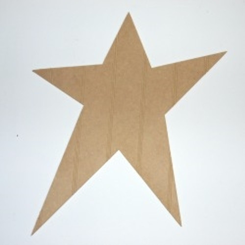 Wood Shooting Star Cutout Beadboard Shape Paintable MDF DIY Craft