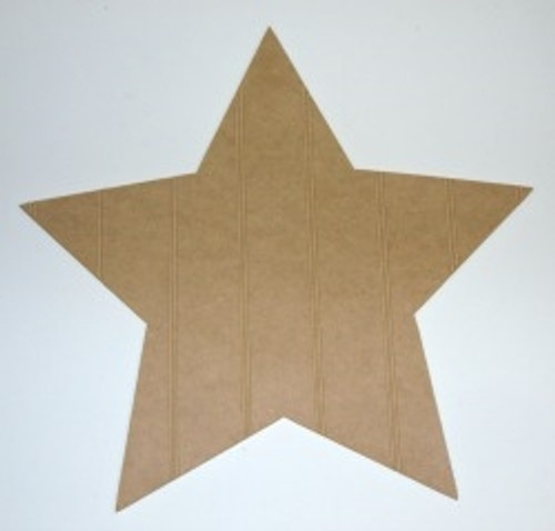 Wooden Wide Star Cutout Beadboard Shape Paintable MDF DIY Craft