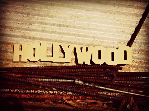 Hollywood Unfinished Cutout, Wooden Shape, MDF DIY Craft