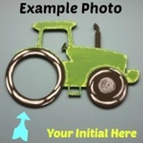 Farm Tractor Frame Letter Insert Wooden Monogram Unfinished DIY