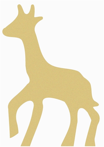 Giraffe Unfinished Cutout Wooden Shape Paintable Wooden Mdf Diy Craft Wall Decor
