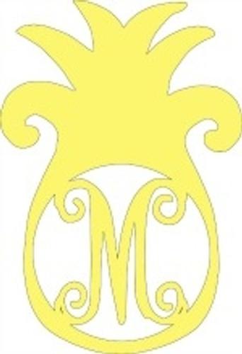 Pineapple Frame Monogram Letter Wooden Unfinished Diy
