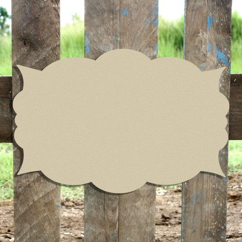 Unfinished Wooden Krisitin Plaque Paintable Craft Shape