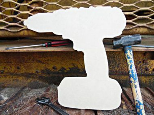 Power Drill Unfinished Cutout, Wooden Shape, MDF DIY Craft