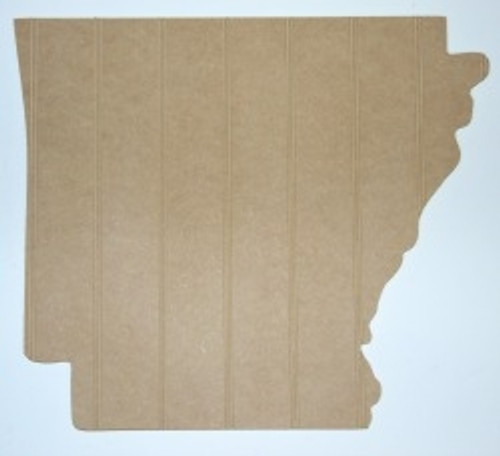 Wooden State Arkansas Unfinished Beadboard, Paintable  MDF DIY Craft
