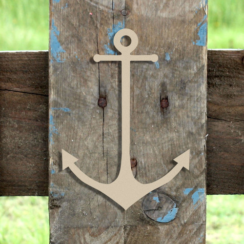 Skinny Anchor Unfinished Cutout, Wooden Shape, Paintable Wooden