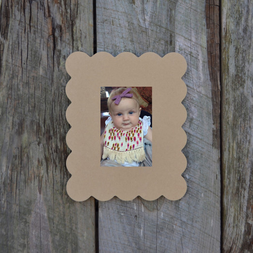 Unfinished Picture Frame Rectangle Wooden Paintable Wood DIY