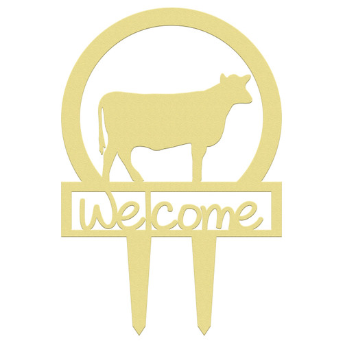 Unfinished outdoor welcome DIY wooden yard art pattern cow sportsman sign