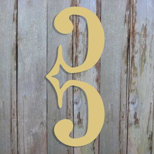 C CLef Unfinished Cutout, Wooden Shape, Paintable Wooden MDF