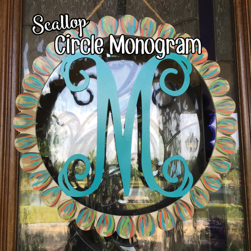 Scallop Circle Monogram Blog