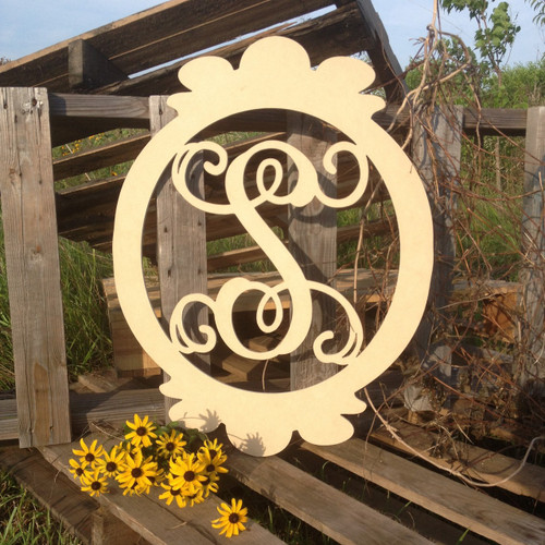 the letter u oval frame monogram letter wooden unfinished diy 25188