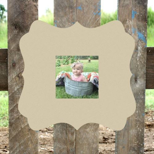 Unfinished Katie Picture Frame 4 x 4 Wood Paint Wood Art
