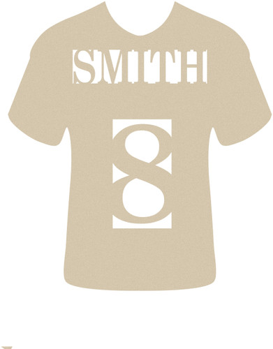 Football Jersey Name and Number Frame Monogram