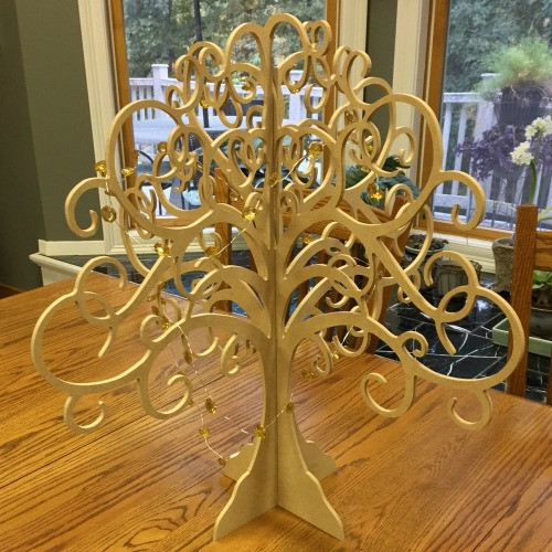 Free Stannding Tree of Life, Mantle Decor, Centerpiece Unfinished MDF