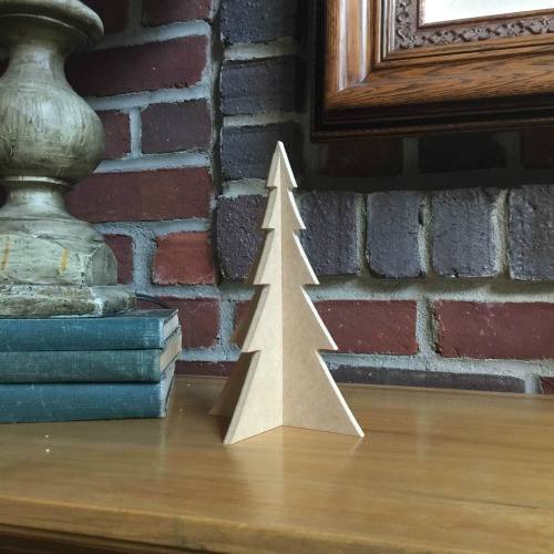 """Free Standing Table Top Christmas Tree (small, 8"""") , Unfinished MDF"""