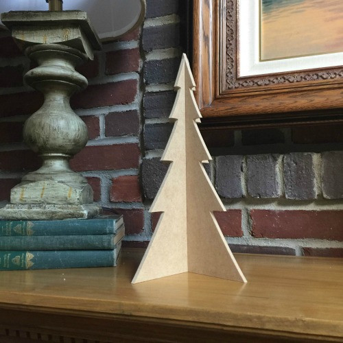 """Free Standing Table Top Christmas Tree (medium, 13"""") , Unfinished MDF"""