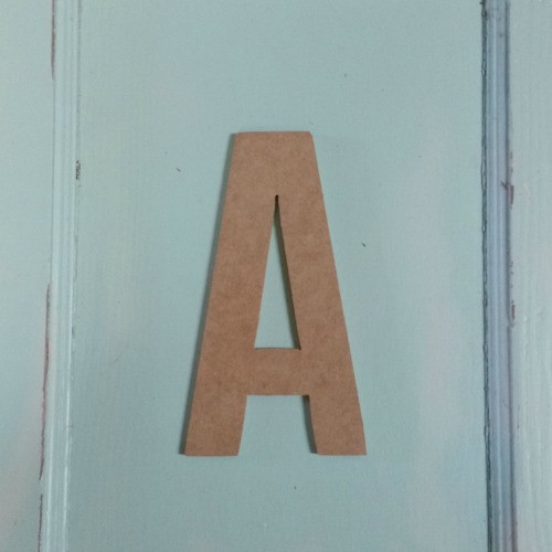 Unfinished Wooden Alphabet Letter Wall Decor Bebas Neue Unpainted Craft