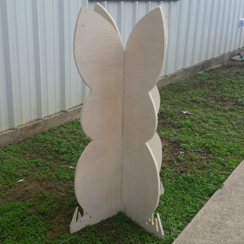 Easter Bunny Yard Art 1/2'' Birch Easter Decor