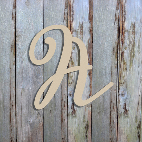 Unfinished Wooden Alphabet Letter Wall Decor (Miracella) Unpainted Letter