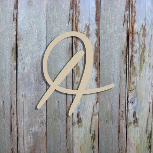Unfinished Wood Cutout Wooden MDF Letters Wall Decor (Harmonie) Font