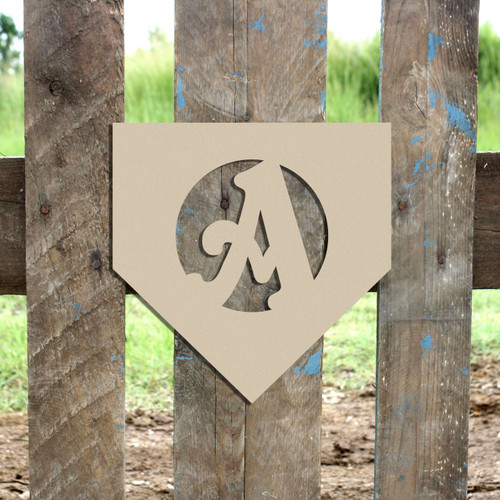 Homeplate Monogram Beltorian Letter Wooden - Unfinished  DIY Craft