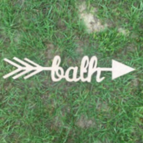 Arrow with word inside (bath) DIY Unfinished Craft Shapes