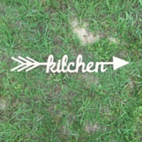 Arrow with word inside (kitchen) DIY Unfinished Craft Shape