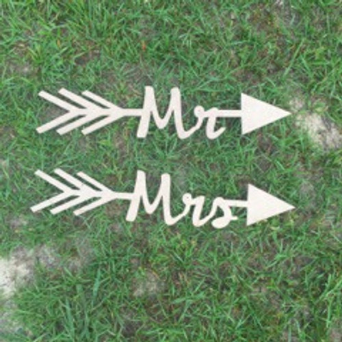 Arrow with word inside (Mr) DIY Unfinished Craft Shape