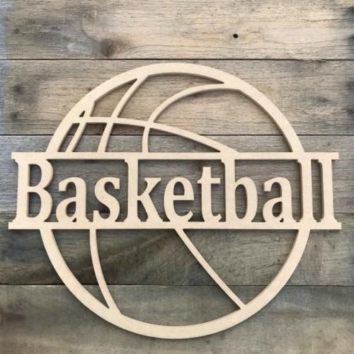 Basketball Name Frame Family Name, Unfinished Framed Monogram