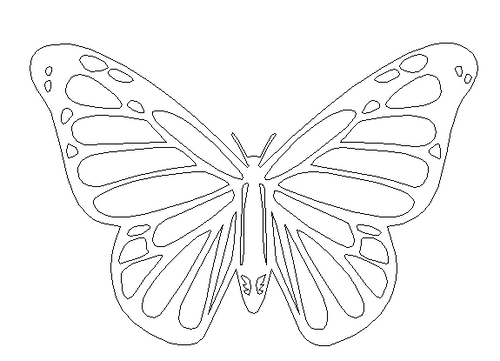 Butterfly Unfinished Cutout Wooden Shape Mdf Diy Craft