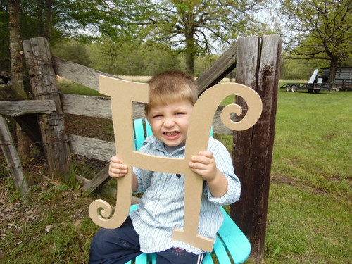Cheap Wooden Letters (H) Curlz Wooden Letters for Wreaths Wall Art