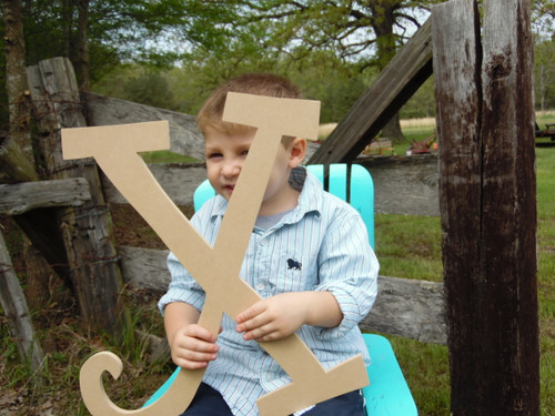 Craft Cuts Wooden Letters Unpainted Wood Letters(X) Curlz Wooden Craft