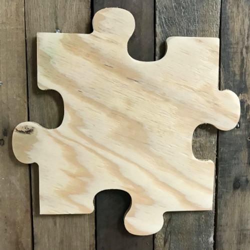 Wooden Pine Cutout, Puzzle Piece, Unfinished Wood Shape
