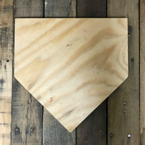 Wooden Pine Cutout, Homeplate, Unfinished Wood Shape, DIY Craft