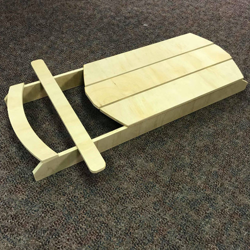 Wooden Mini Sled, Christmas Sled, White Pine, Photo Prop