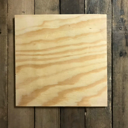 Wood Pine Shape, Square, Unpainted Wooden Cutout DIY