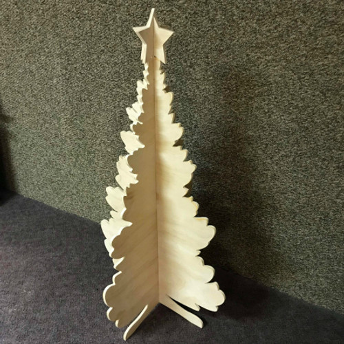 Double Tree, Unfinished Christmas Tree, White Pine, Photo Prop