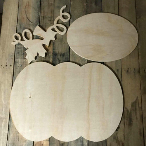 Pumpkin, Unfinished Pumpkin Set, White Pine, Photo Prop
