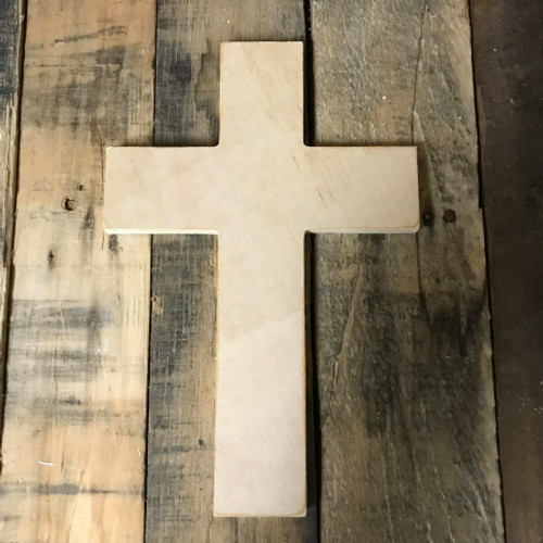 Wooden Cross, Unpainted Wooden Wall Craft, VBS Pine (43)