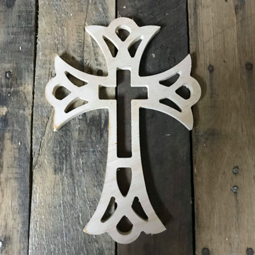 Unpainted Craft Cross, DIY Wooden Crosses, Wall Art Pine (60)