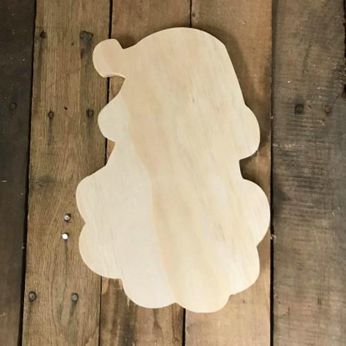 Wood Pine Shape, Christmas Santa Head, Unpainted Wooden Cutout DIY