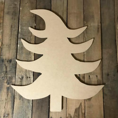 Cool Christmas Tree, Unfinished Wood Shape, Christmas Cutout