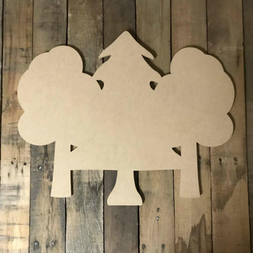 Forest Trees,  Craft Unfinished Wood Shape, Fall Wood Cutout
