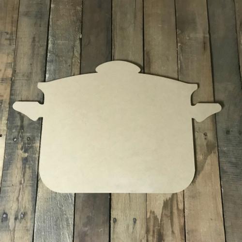 Cooking Pot,  Craft Unfinished Wood Shape, Wood Cutout