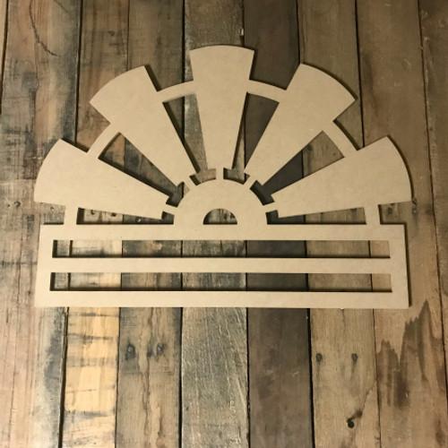 Windmill Deco Mesh Door Hanger, Unfinished Wood Craft