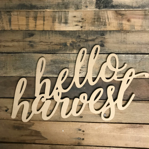 Script Hello Harvest, Alphabet Paintable DIY