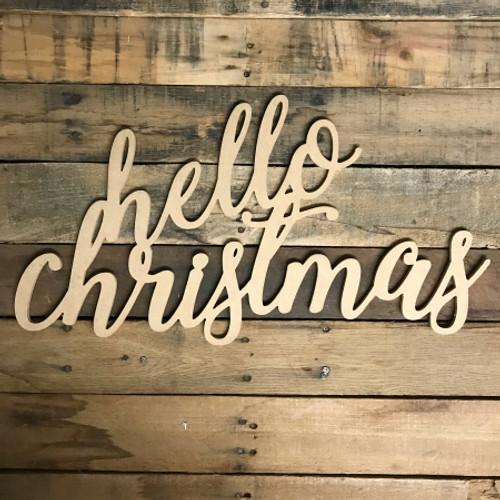 Script Hello Christmas, Alphabet Paintable DIY