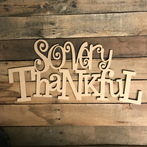 So very Thankful, Alphabet Paintable DIY