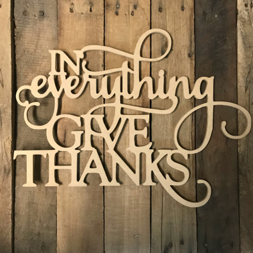 In Everything Give Thanks, Alphabet Paintable DIY