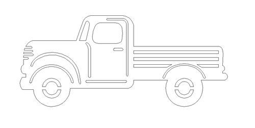 Truck with cutouts Cutout Unfinished Wooden Cutout Craft